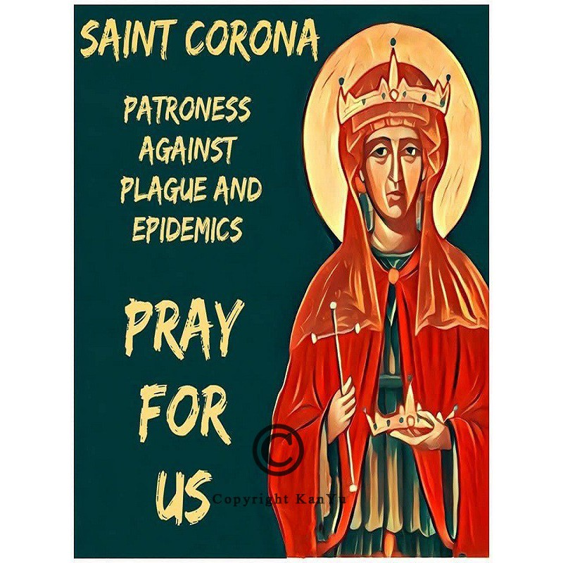Noveenkaars Heilige Corona pray NOV00667
